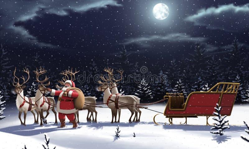 De Kerstman _2 vector illustratie