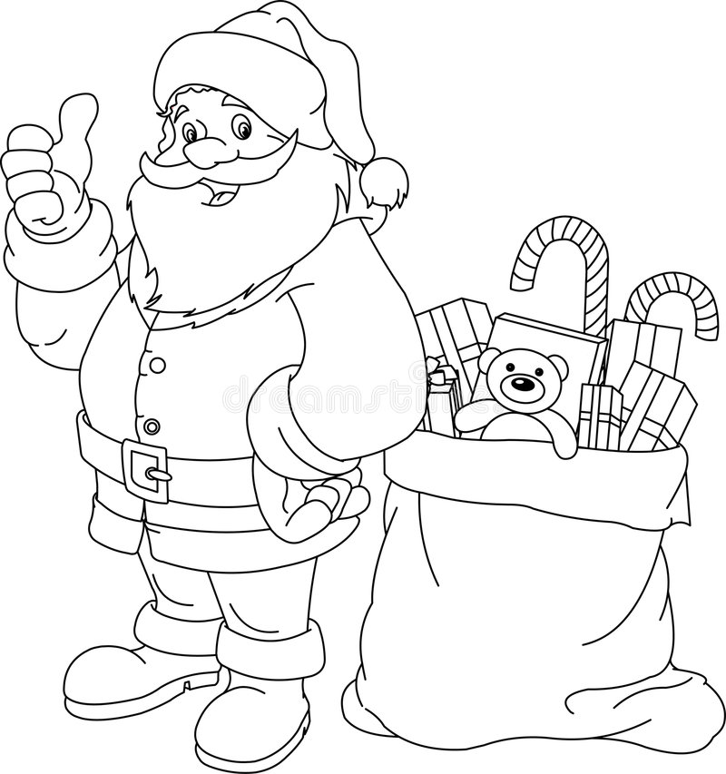 De Kerstman vector illustratie