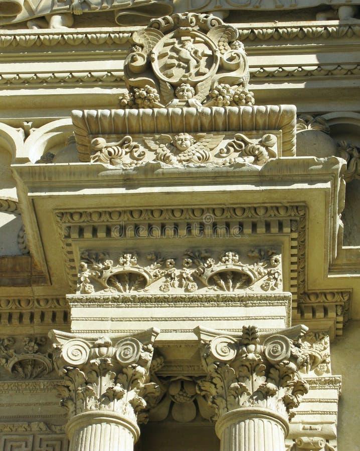 De Kerstman Croce van de basiliek in Lecce in Italië royalty-vrije stock foto