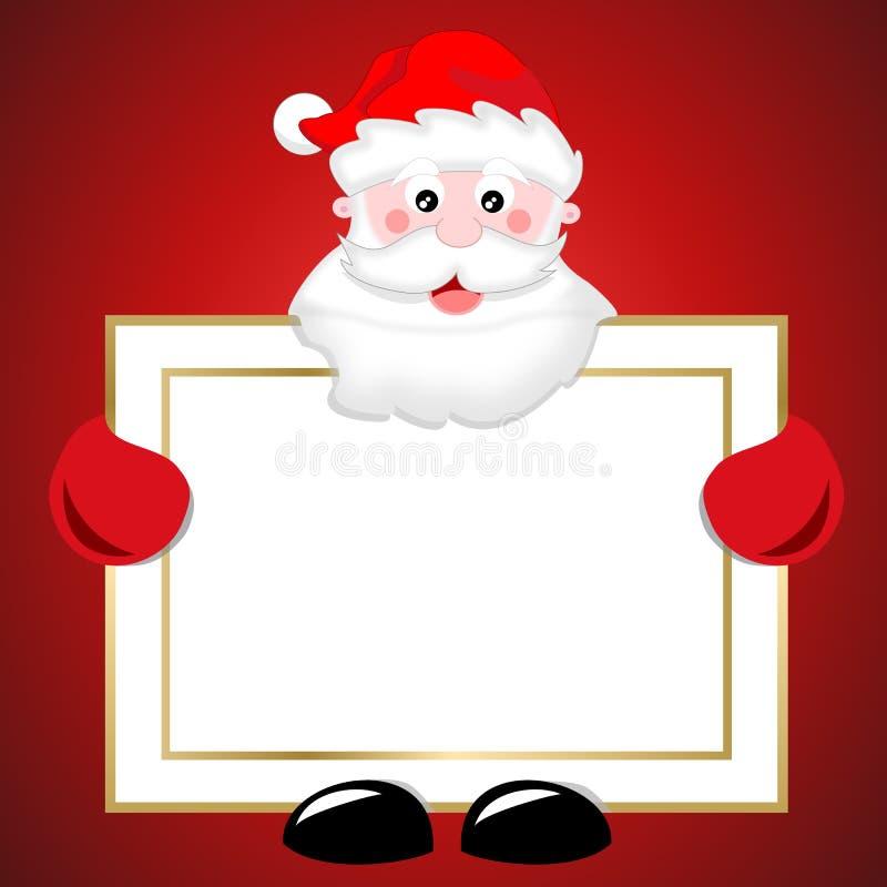 De kerstman houdt een teken van Kerstmis [2] vector illustratie