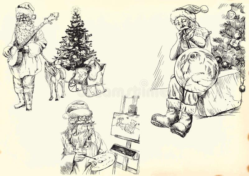 De Kerstman - Inzameling 1 royalty-vrije illustratie