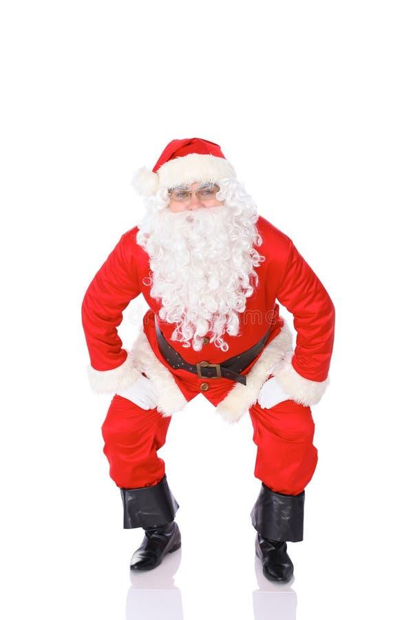 De Kerstman isoleerde op Witte Achtergrond Volledig lengteportret royalty-vrije stock foto's
