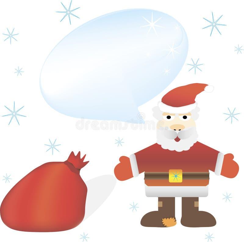 De Kerstman _2 Jaar van de Geit 2015 Vector illustratie Geïsoleerdj op witte achtergrond vector illustratie