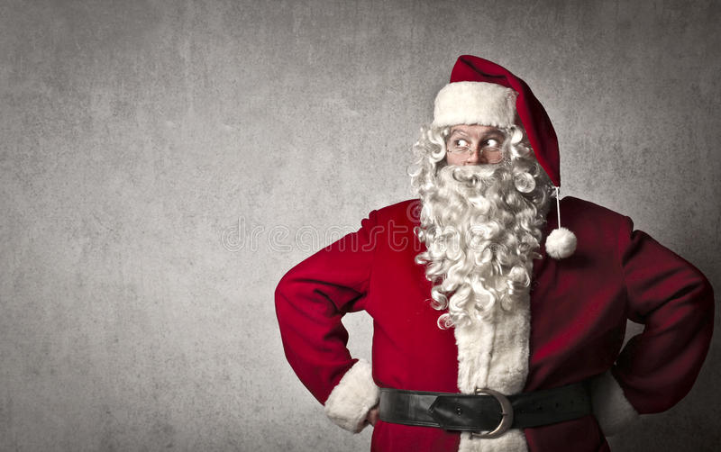 De Kerstman kijkt stock fotografie