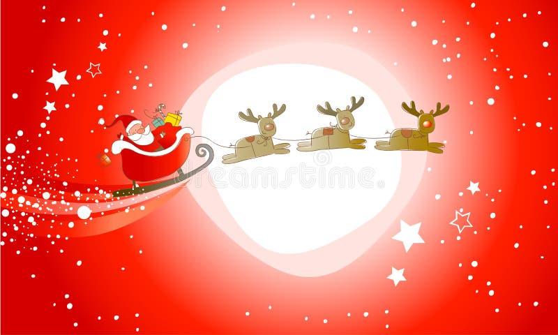 De Kerstman komt! royalty-vrije illustratie