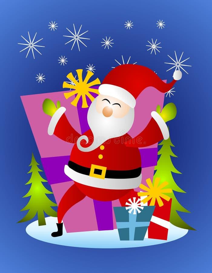 De Kerstman met de Giften van Kerstmis royalty-vrije illustratie