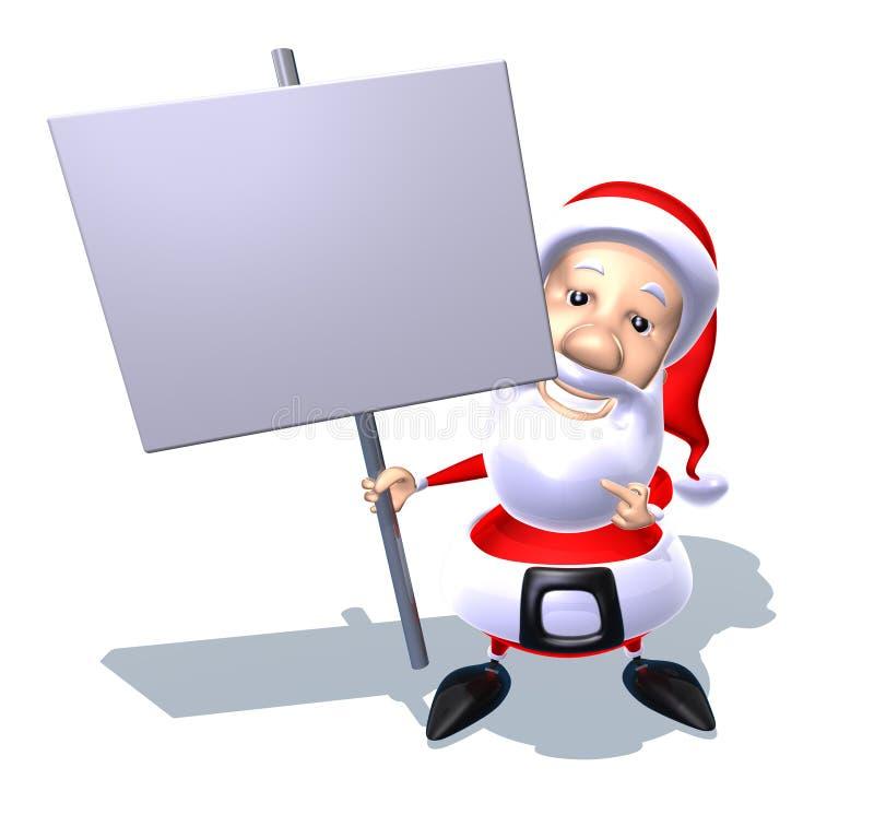 De Kerstman met een bericht royalty-vrije illustratie