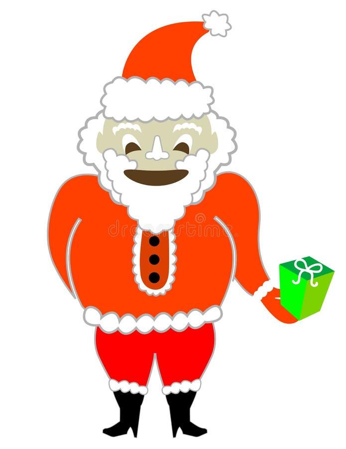 De Kerstman met een Heden! Vector/het Art. van de Klem royalty-vrije illustratie