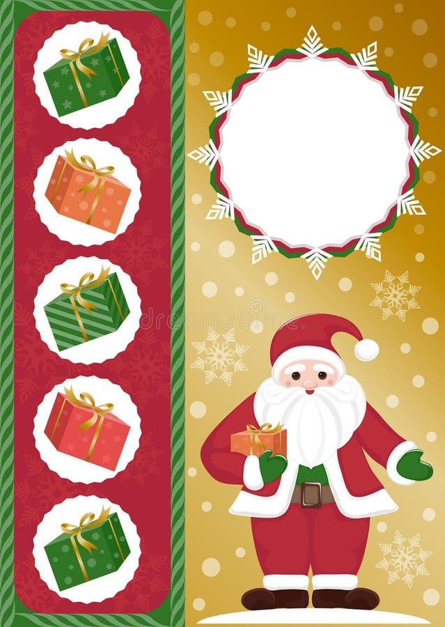 De Kerstman met giften vector illustratie