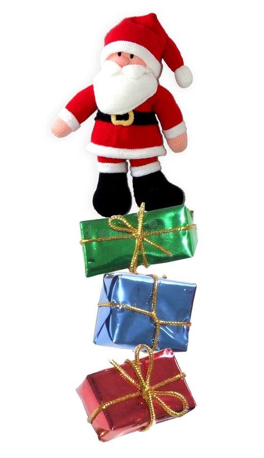 De kerstman met stelt voor royalty-vrije stock foto's