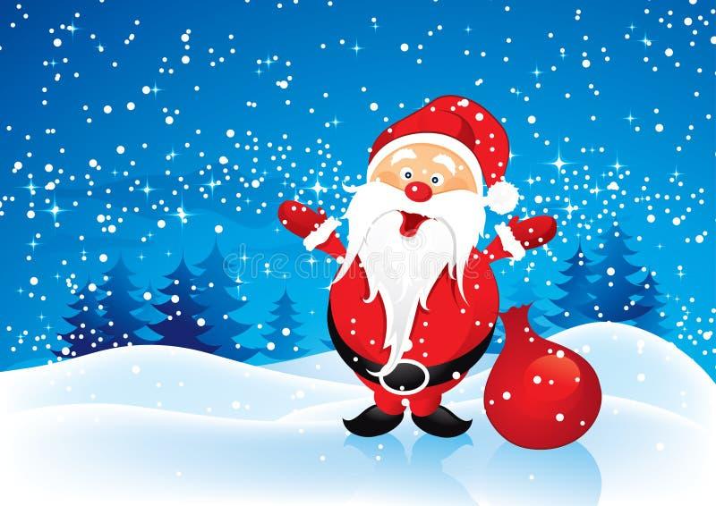 De Kerstman met stelt voor royalty-vrije illustratie