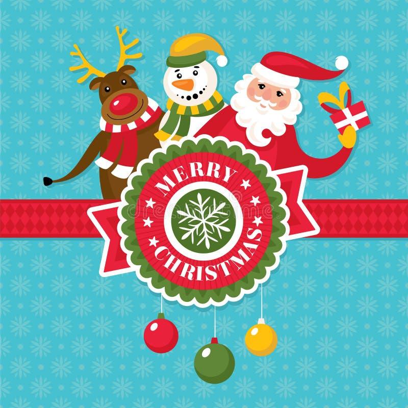 De Kerstman op een slee vector illustratie