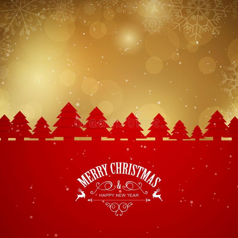 De Kerstman op een slee stock illustratie