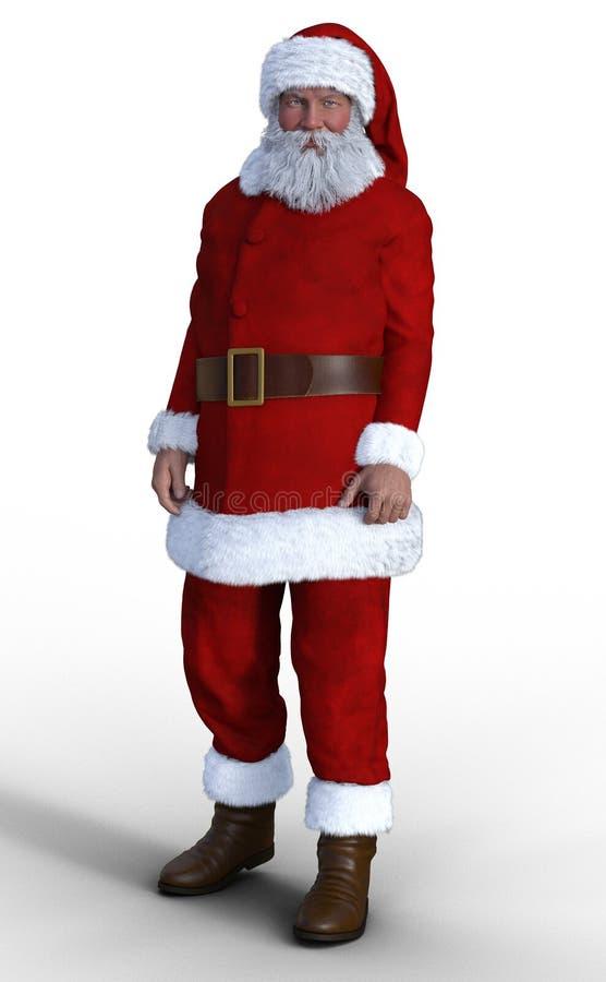 De Kerstman op een witte achtergrond royalty-vrije illustratie