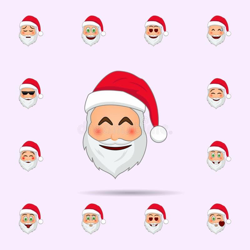 De Kerstman in pijnlijk emojipictogram Dat voor Web wordt geplaatst en mobiel de pictogrammenalgemeen begrip van de Kerstman Emoj vector illustratie