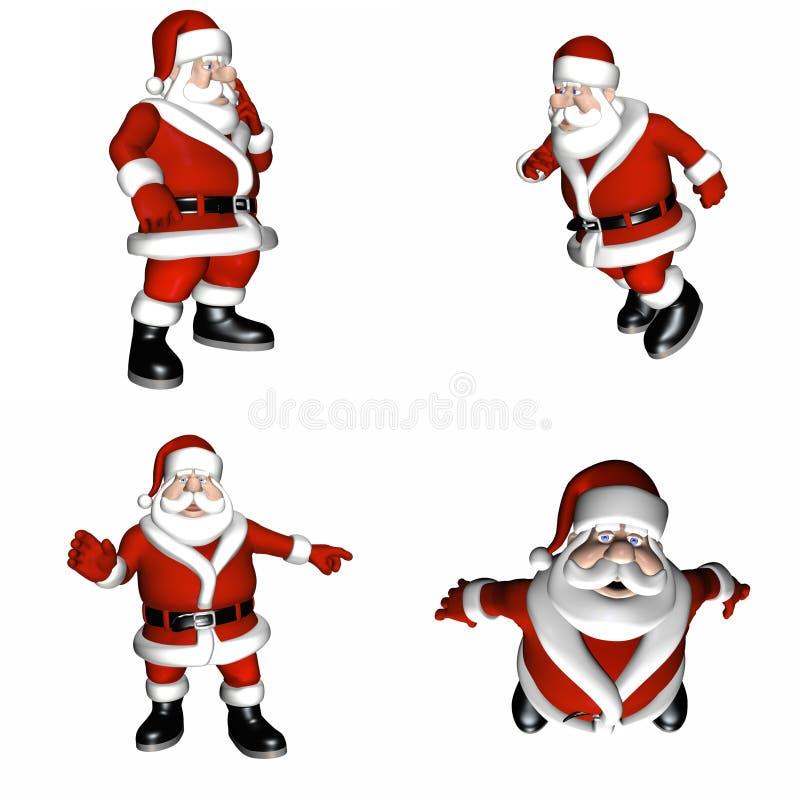 De kerstman stelt vector illustratie