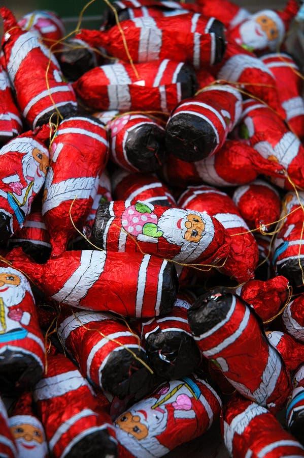 De Kerstman van de chocolade royalty-vrije stock foto