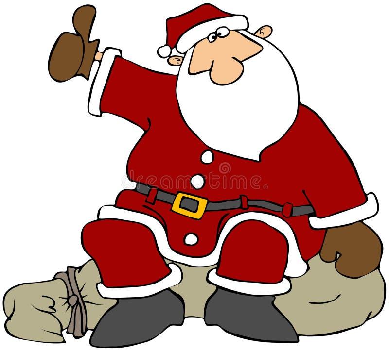 De Kerstman van de lift stock illustratie
