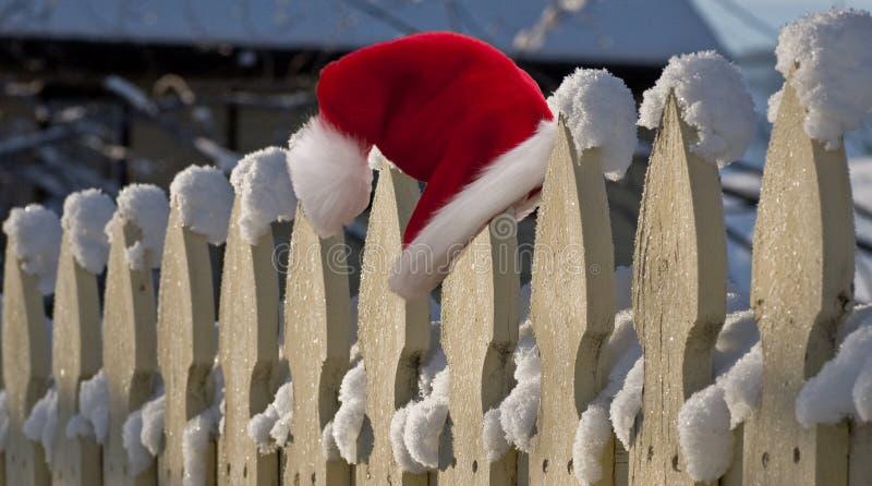 De kerstman verloor zijn hoed royalty-vrije stock foto's