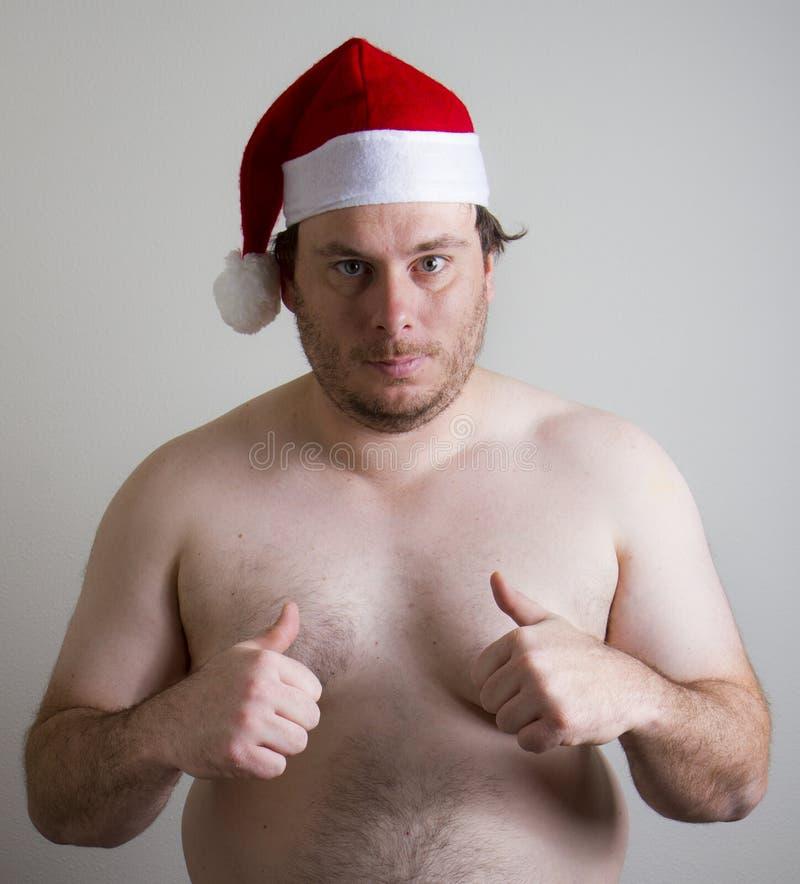 De kerstman wil u hem kiezen stock afbeelding