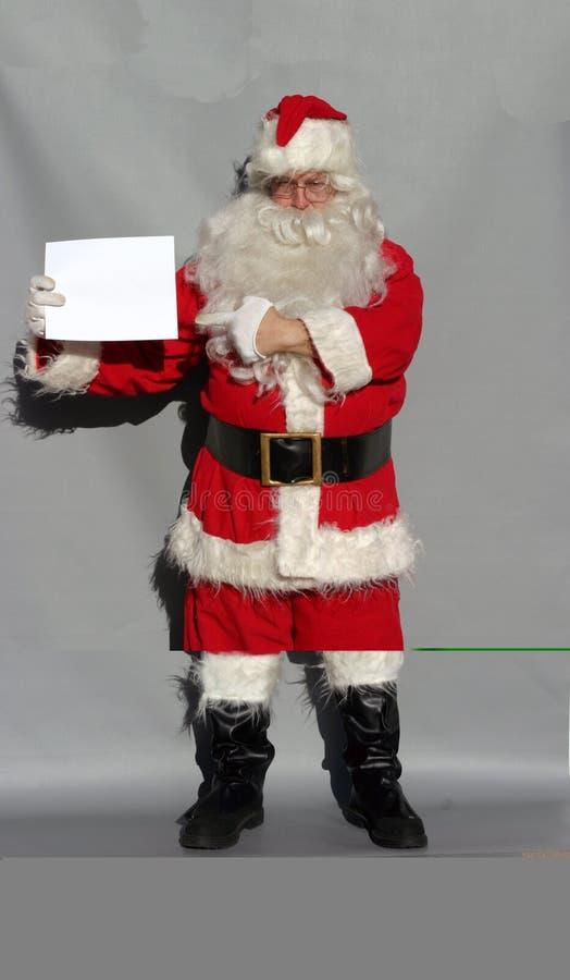 De kerstman zegt stock afbeeldingen