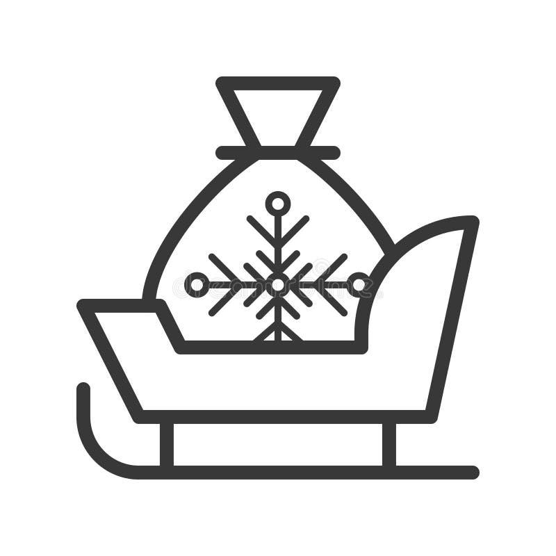 De kerstmanar, de Vrolijke reeks van het Kerstmisthema, schetst editable slag stock illustratie