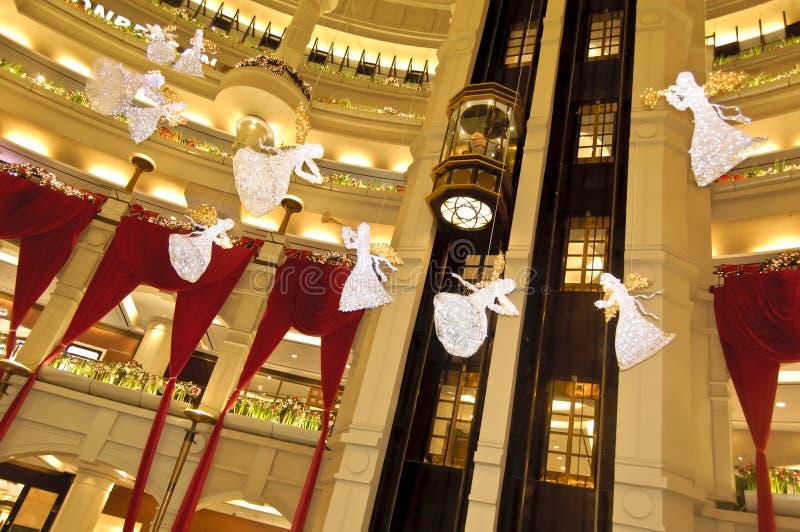 De Kerstmisdecoratie op starhill winkelend centrum stock foto's