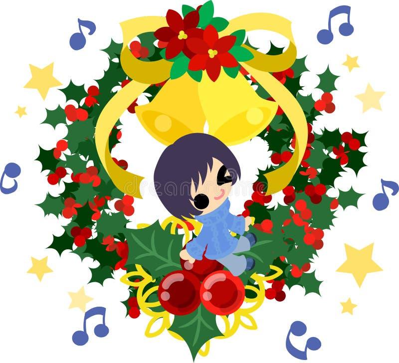 De Kerstmisillustratie royalty-vrije illustratie