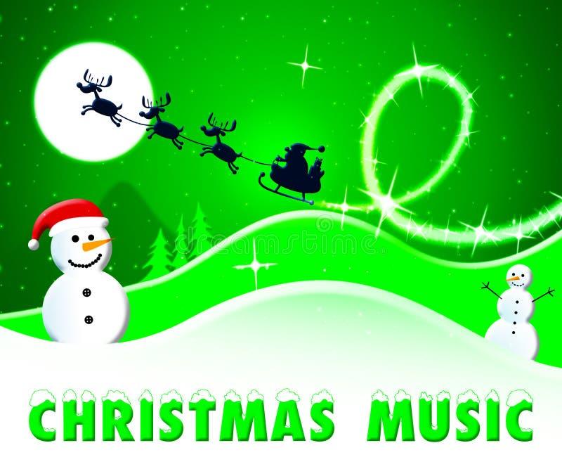 De Kerstmismuziek toont Kerstmislied 3d Illustratie vector illustratie