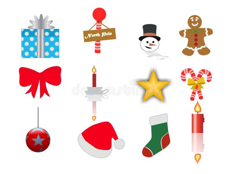 De Kerstmispictogrammen plaatsen 2 stock foto's