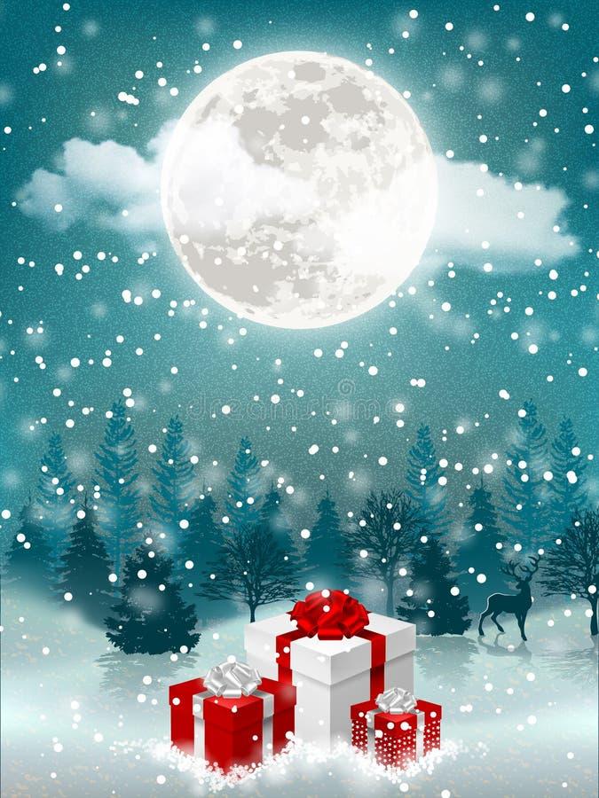 De Kerstmisvooravond met stelt voor royalty-vrije illustratie