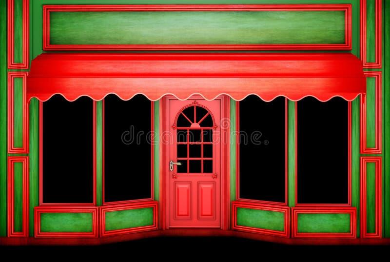 De Kerstmiswinkel royalty-vrije stock afbeeldingen
