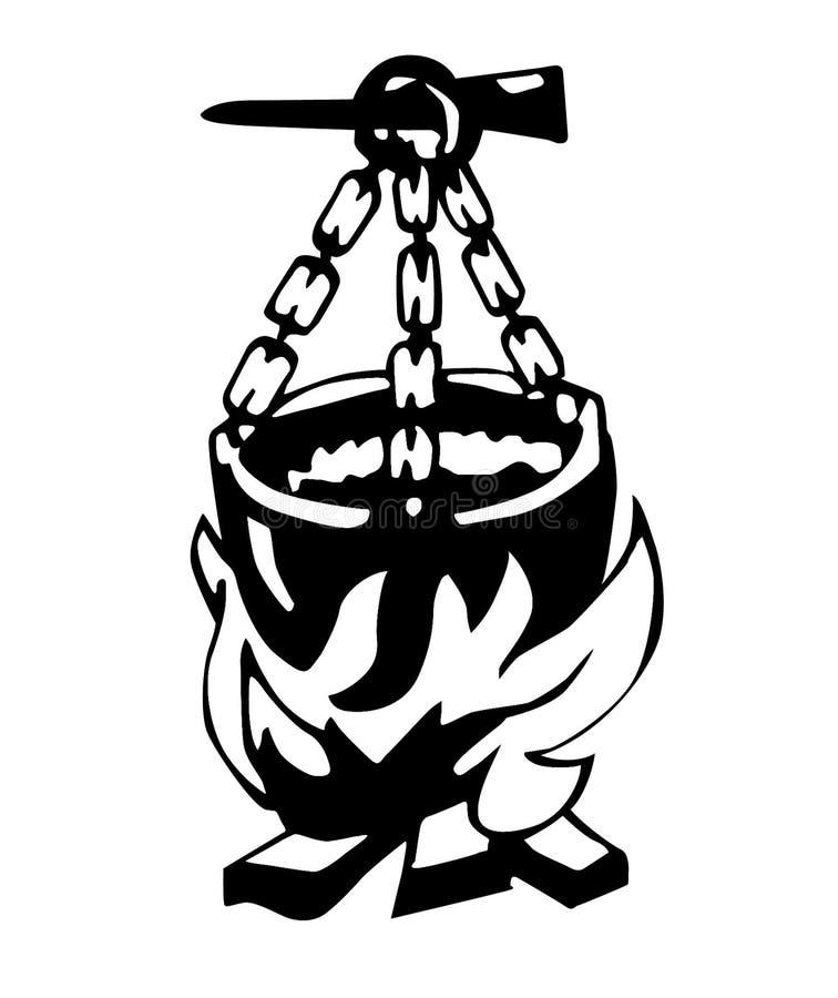 De ketel van de illustratie   royalty-vrije illustratie