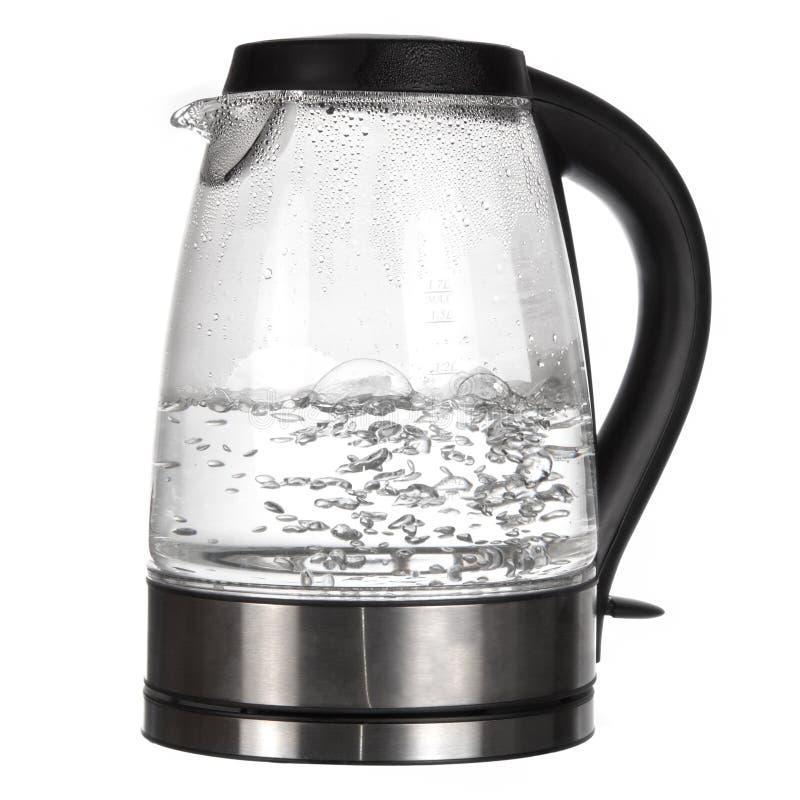 De ketel van de thee met kokend water royalty-vrije stock afbeelding