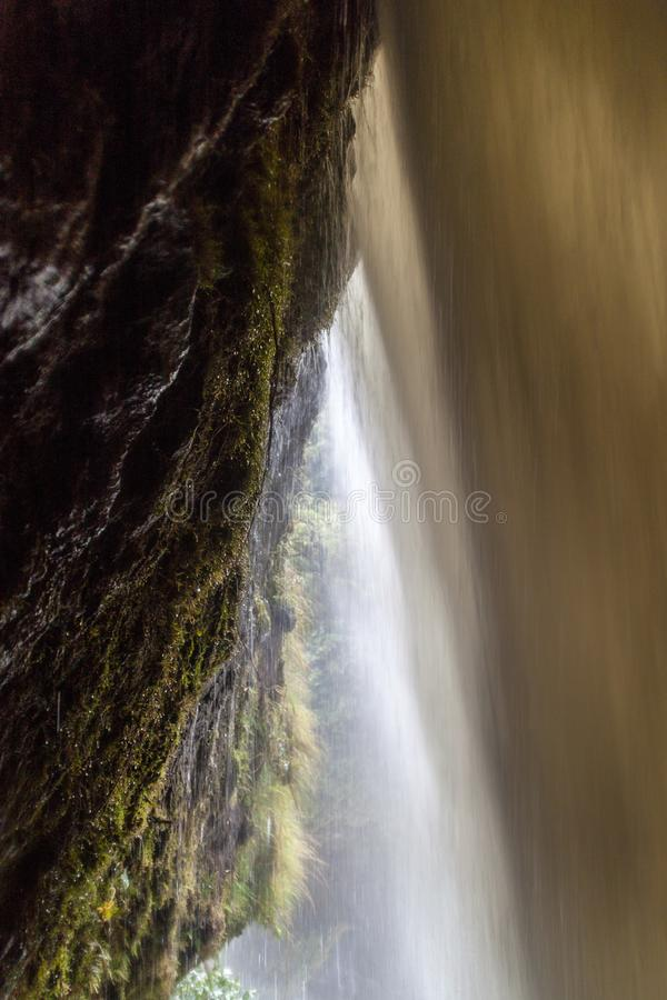 De Ketelwaterval van Pailon del Diablo Devil, Ecuador stock fotografie