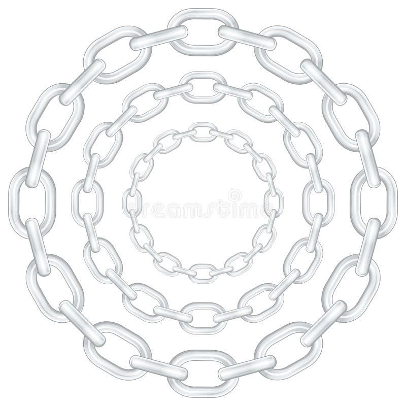 De keten van de cirkel vector illustratie