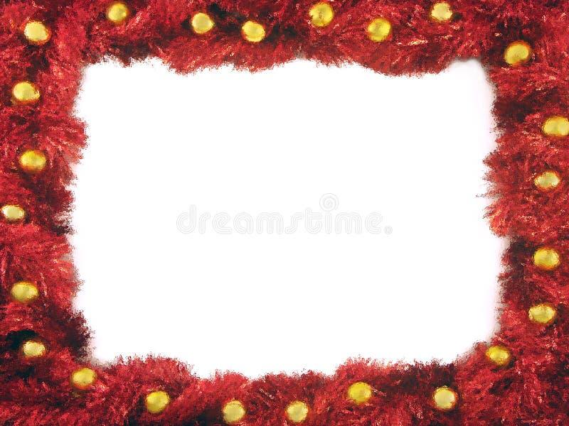 De keten van Kerstmis frame stock foto