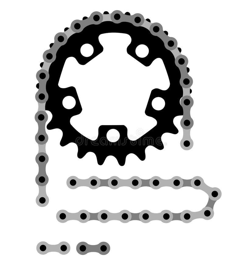 De ketting van de fiets stock illustratie