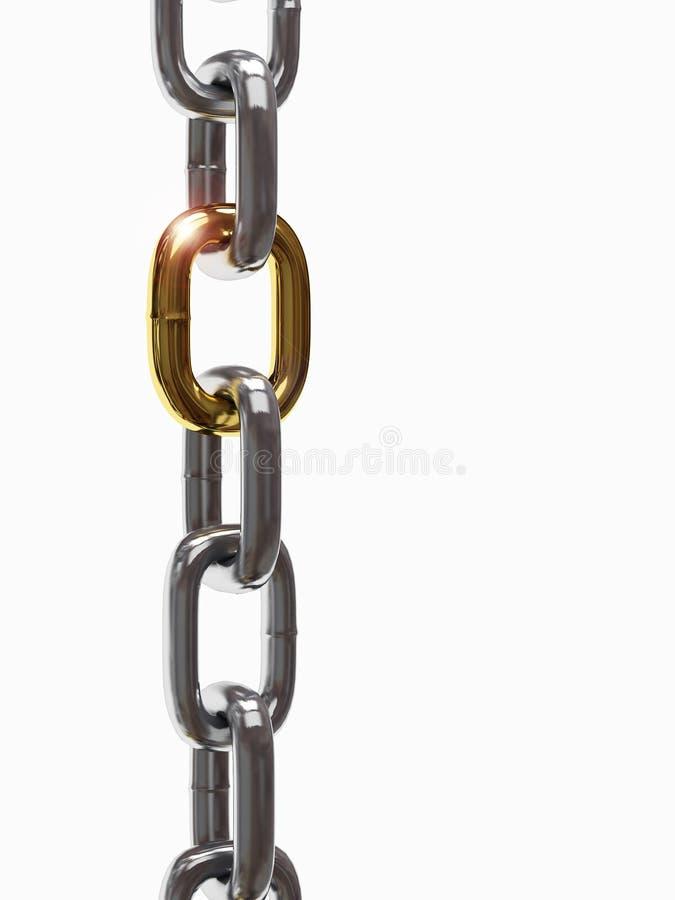 De ketting van het ijzer stock illustratie