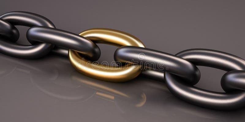 De ketting van het metaal royalty-vrije illustratie