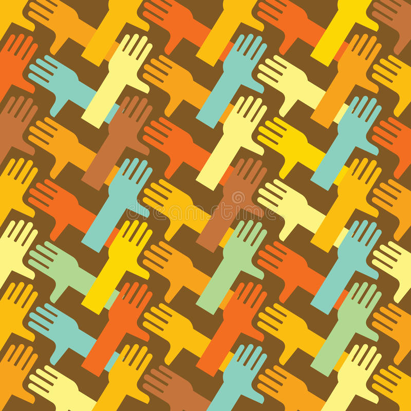 De kettingsachtergrond van de hand stock illustratie