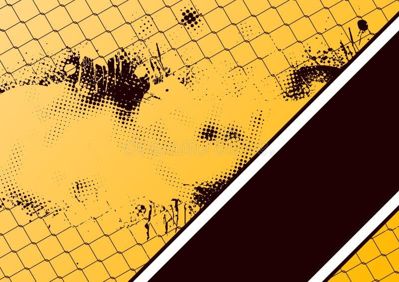 De kettingslink van Grunge omheining stock illustratie