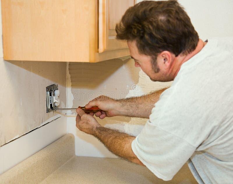 De keuken remodelleert - Elektrisch royalty-vrije stock afbeelding