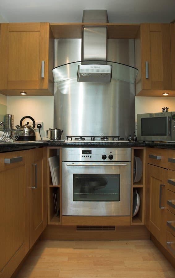 De keuken van de flat stock afbeelding