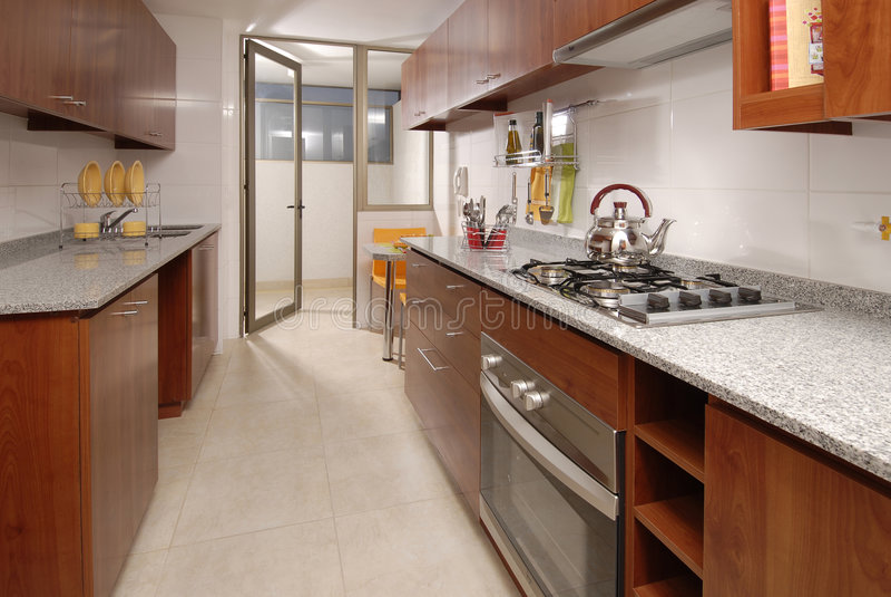 De keuken van de flat royalty-vrije stock fotografie