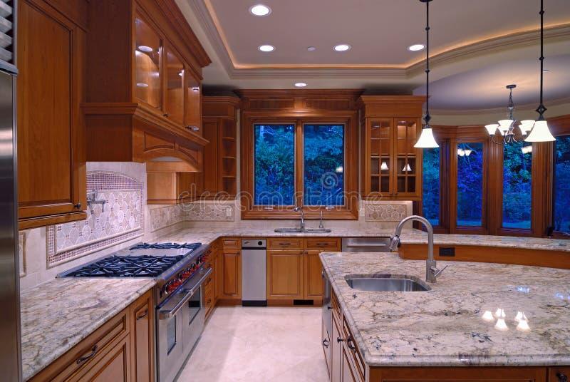De Keuken van het graniet stock foto's