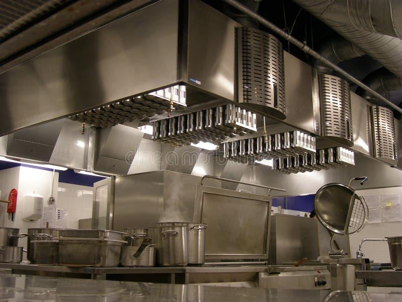 De keuken van het restaurant stock fotografie