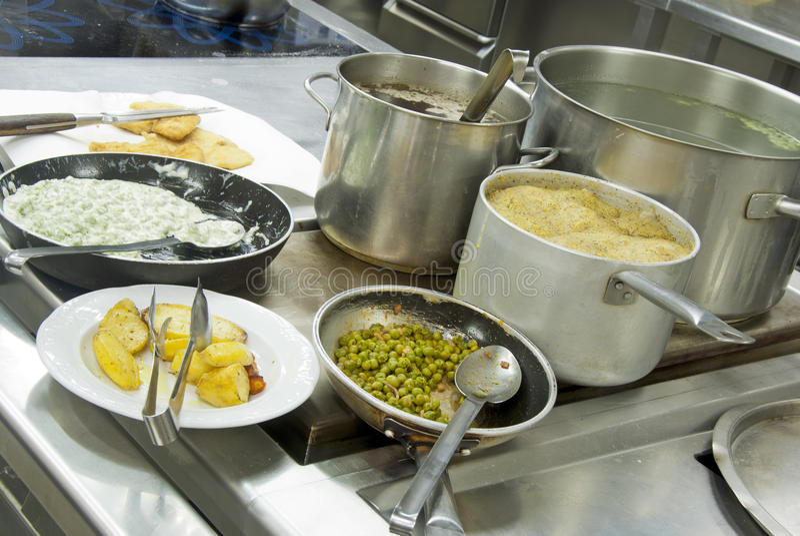 De keuken van het restaurant - detail royalty-vrije stock foto's