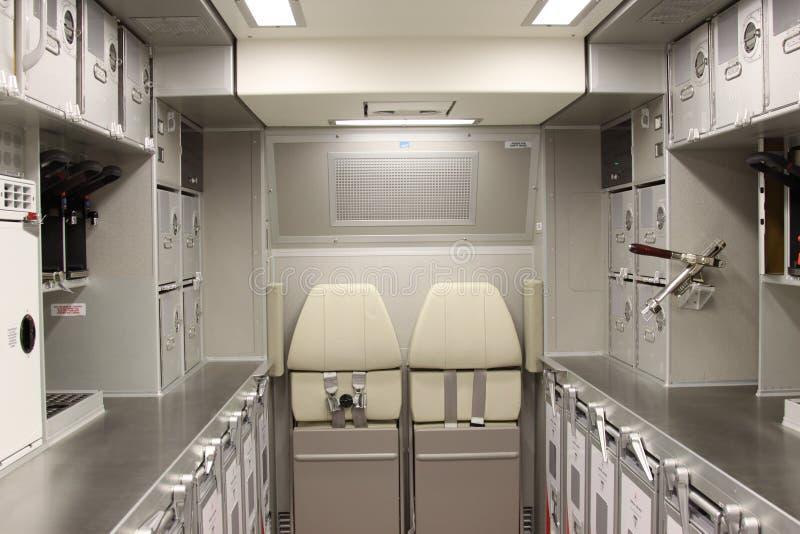 De keuken van het vliegtuig royalty-vrije stock afbeeldingen