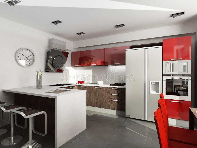 De Keuken van Techno stock illustratie